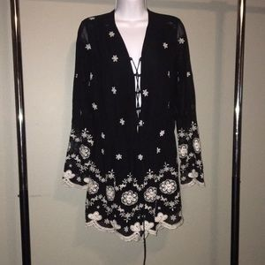 Nwt embroidered romper